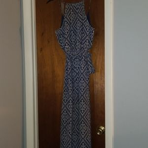 Forever 21blue and white womans long sun dress